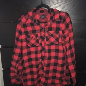 Oversized red and black flannel
